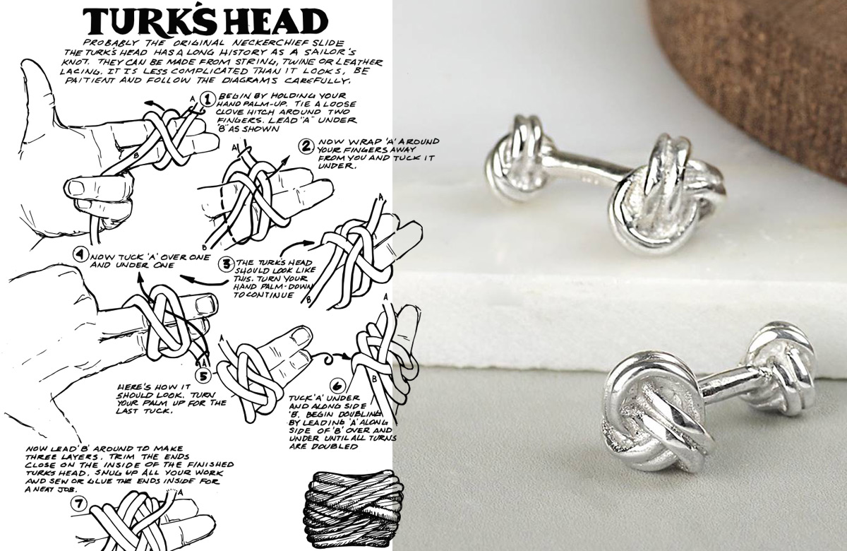 The History of the Silk Knot Cufflink