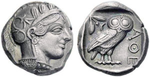 Tetradachm of Athens about 550 B.C.